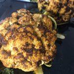 whole-roasted cauliflower