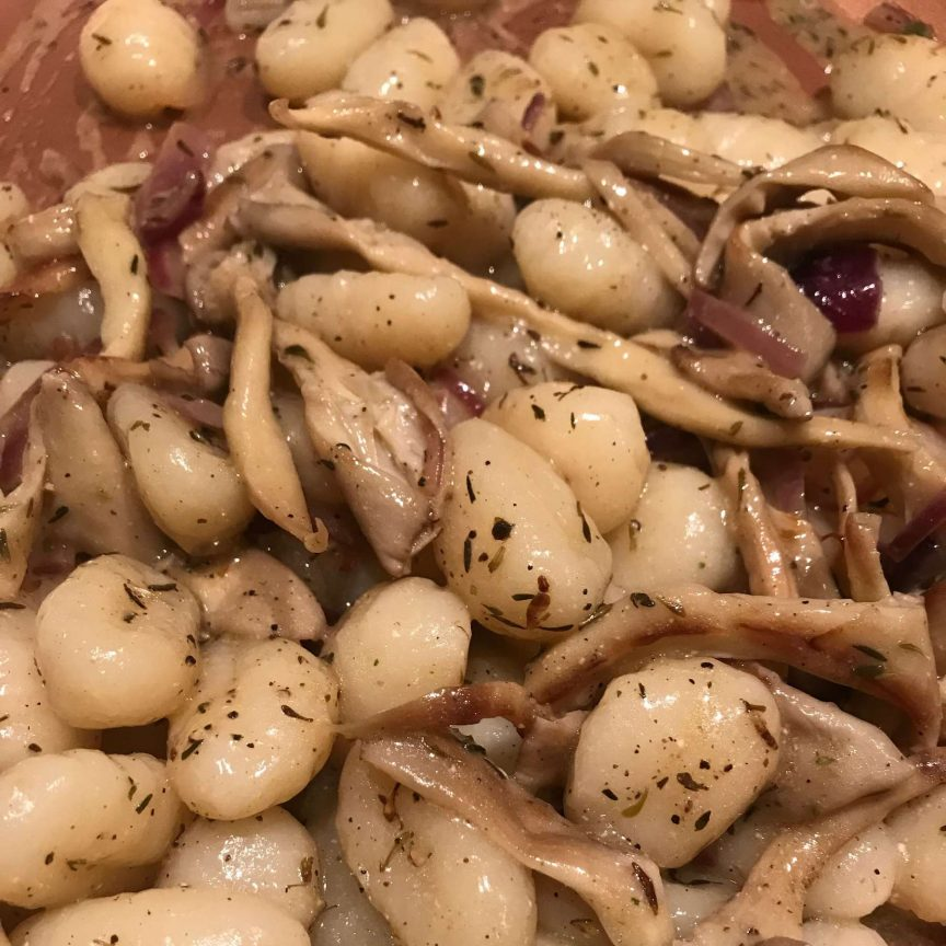 gnocchi with oyster mushrooms