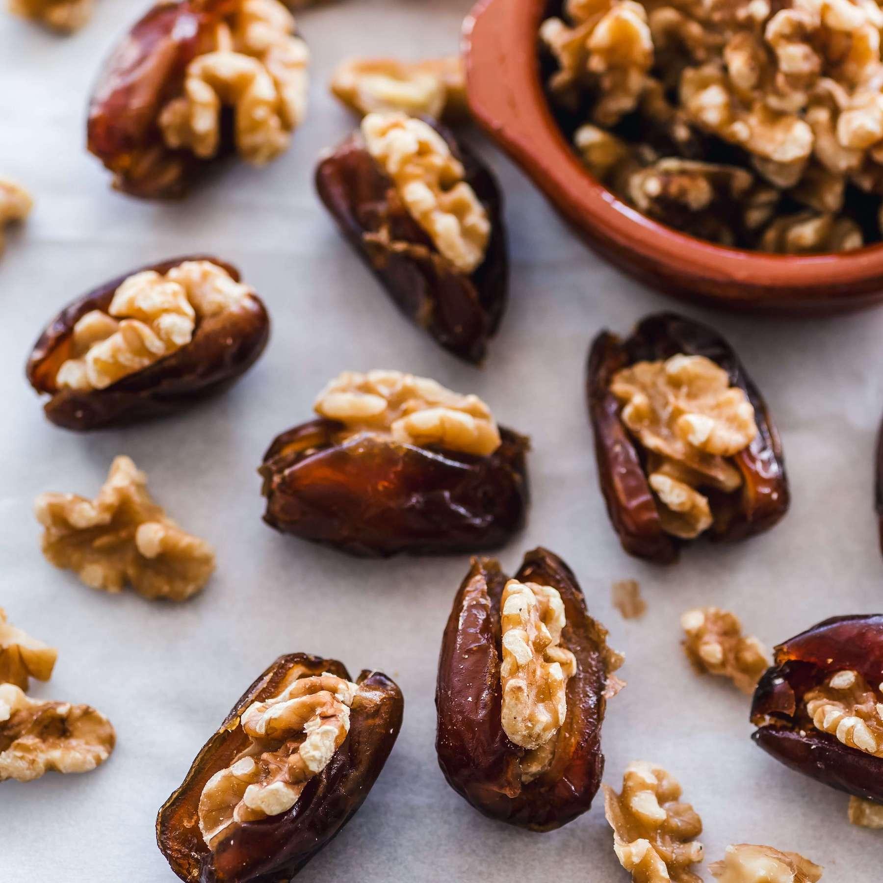 walnut-stuffed dates